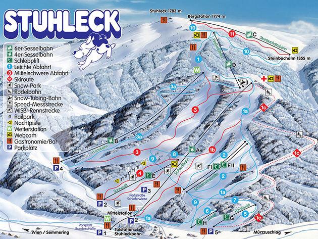 SEMMERING vagy STUHLECK - síelés, szánkózás Ausztriában / non-stop buszos kirándulás, időpont: január 14. / fő
