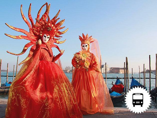 Velencei karnevál - non-stop autóbuszos utazás / február 17-19 vagy 24-26. / fő