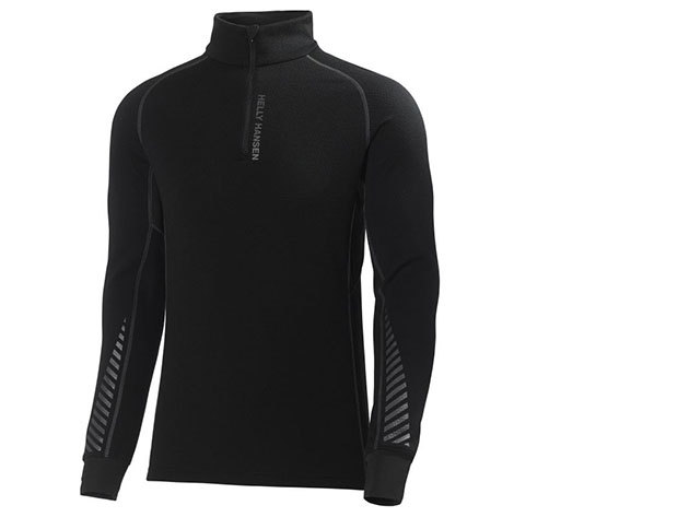 Helly Hansen HH WARM FLOW HIGH NECK 1/2 ZIP BLACK S (48273_990-S) - AZONNAL ÁTVEHETŐ