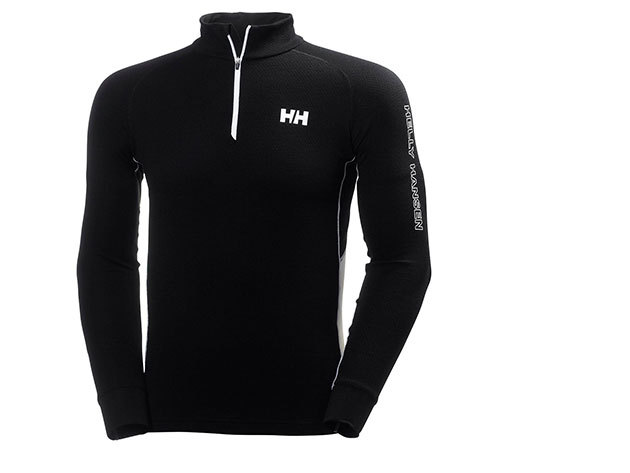 Helly Hansen HH WARM FLOW HIGH NECK 1/2 ZIP BLACK / WHITE XXL (48273_993-2XL)