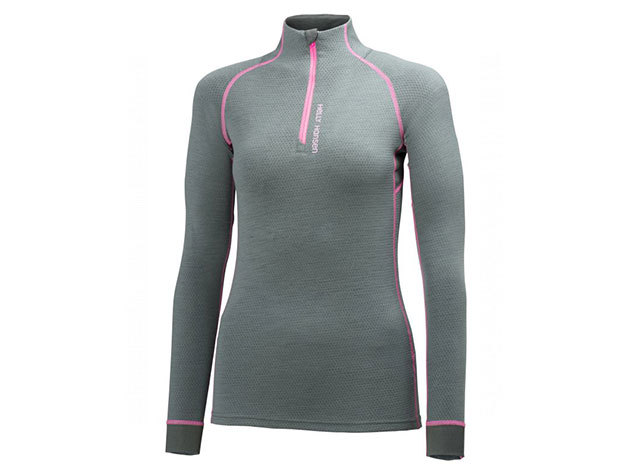 Helly Hansen W HH WARM FLOW HIGH NECK 1/2 ZIP ROCK M (48274_899-M) - AZONNAL ÁTVEHETŐ