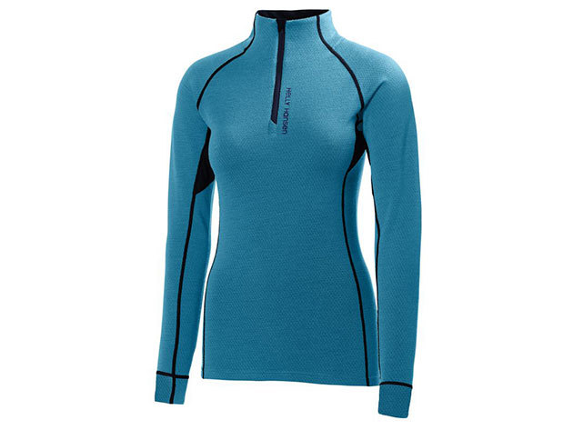 Helly Hansen W HH WARM FLOW HIGH NECK 1/2 ZIP WINTER AQUA XL (48274_123-XL)
