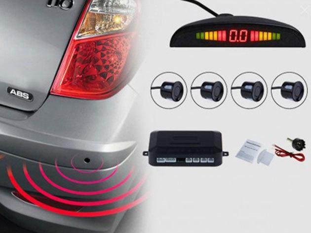 Tolatóradar LCD kijelzővel és 4 érzékelővel (6 hónap garancia) - a parkolás ezután gyerekjáték lesz