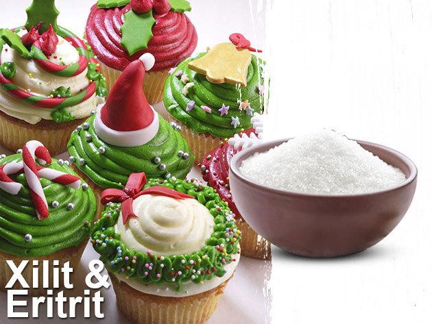 Eritrit (kalóriamentes) és Xilit (40%-kal kevesebb kalória a cukorhoz képest) - édesítőszerek 1 kg-os kiszerelésben