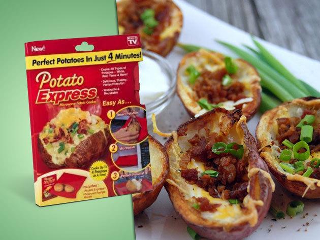 Potato Express – főzz burgonyát mikrohullámú sütőben néhány perc alatt!