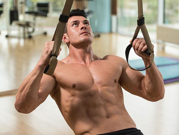 """Suspension Trainer ECO edzőheveder 1 év garanciával a funkcionális edzésekhez - 250 gramm súlyú """"konditerem"""", melyet bárhová magaddal vihetsz"""