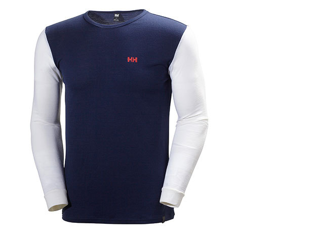 Helly Hansen HH WOOL LS EVENING BLUE / OFF WHITE S (48501_689-S)