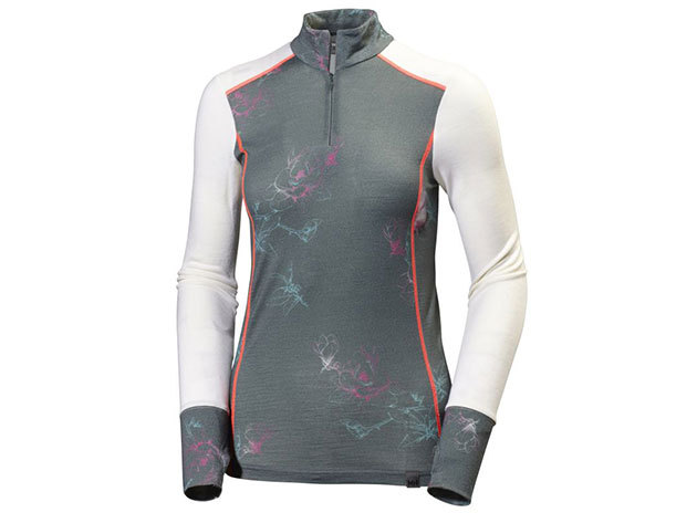 Helly Hansen W HH MERINO MID GRAPHIC 1/2 ZI ROCK LILY PRINT M (48473_898-M)