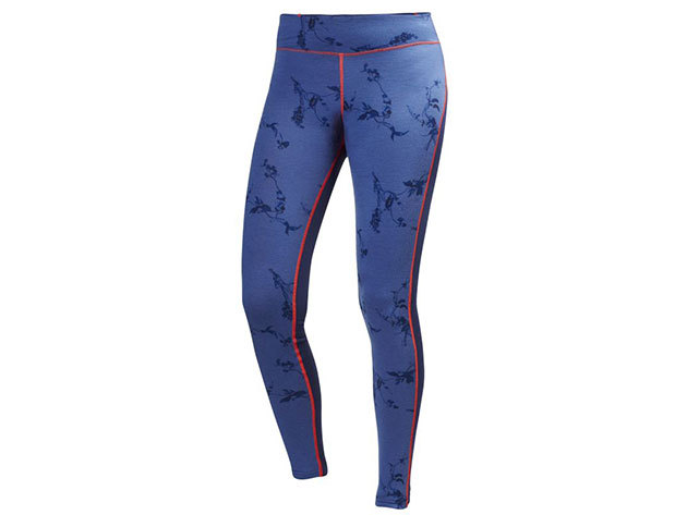 Helly Hansen W HH WOOL GRAPHIC PANT EVENING BLUE SYMBIOS PRIN S (48474_689-S)