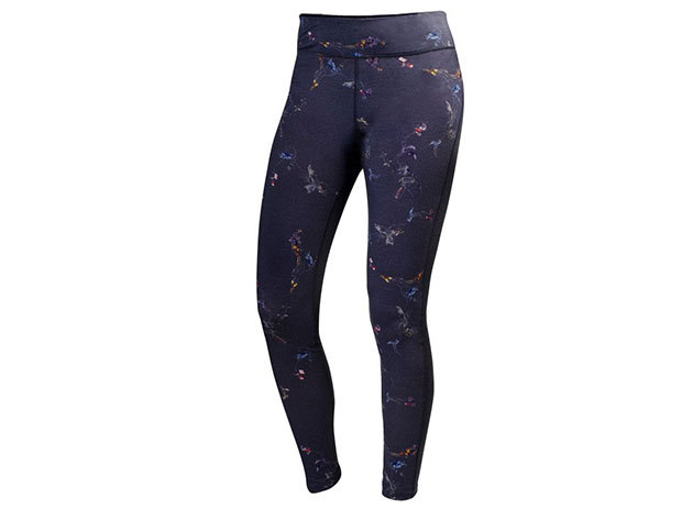 Helly Hansen W HH WOOL GRAPHIC PANT EBONY SYMBIOS PRINT XL (48474_980-XL)