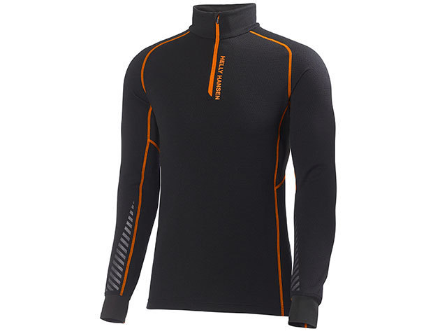 Helly Hansen HH WARM FLOW HIGH NECK 1/2 ZIP BLACK / NEON ORANGE L (48273_992-L) - AZONNAL ÁTVEHETŐ