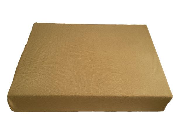 Homokbarna pamut gumis lepedő - 100x200 cm