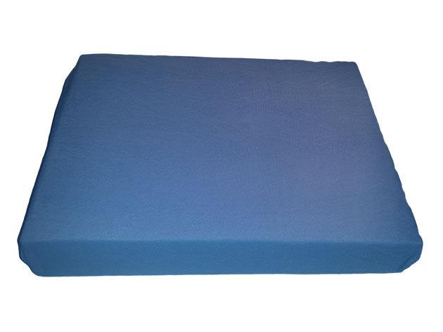 Kék pamut gumis lepedő - 160x200 cm