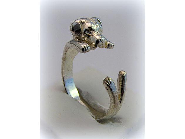 Kutyás ezüst gyűrű - canecorso