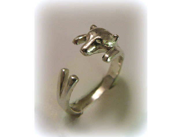 Jegesmacis ezüst gyűrű