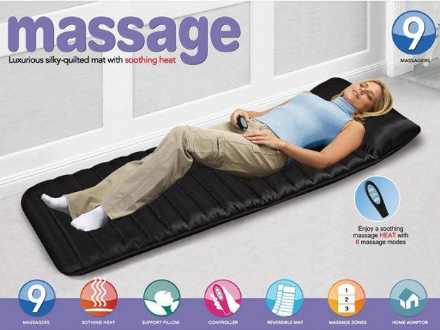 Masszázságy - fűthető masszírozó matrac távirányítóval / kényeztető terápia az otthonodban