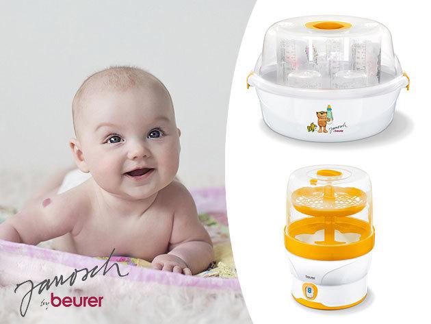 Beurer JBY 40 és BY 76 gőzsterilizálók a kisbaba egészségéért, vegyi anyagok nélkül, 3 év garanciával