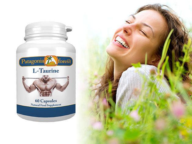 L-Taurine kapszulák a stressz és a szorongás leküzdéséhez, az erőnlét, mozgás és a memória támogatásához