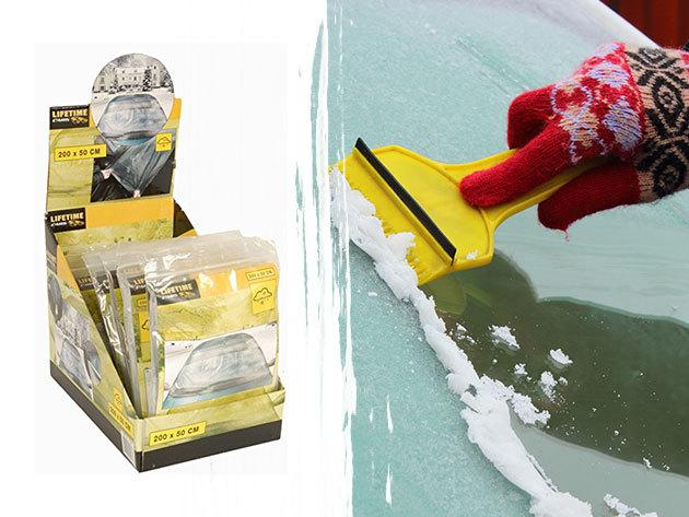 Jégvédő fólia, melyet a gépjárműved szélvédőjére erősíthetsz, megóvva azt a jegesedéstől (200x50 cm)