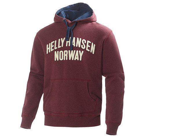 Helly Hansen GRAPHIC HOODIE BORDEAUX MELANGE XL (51711_262-XL) - AZONNAL ÁTVEHETŐ