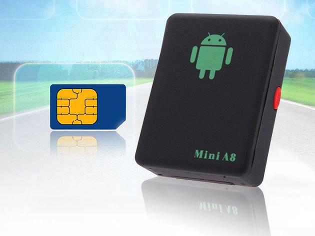 Mini A8 GPS nyomkövető - kártyafüggetlen készülék, tárgyak, személyek, vagy gépjárművek felkutatására