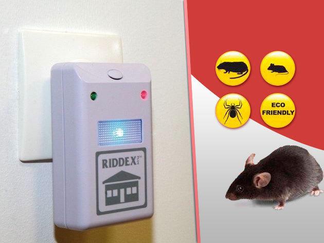 Riddex Plus - 2 db elektromos, ultrahangos rágcsáló- és rovarriasztó készülék / Tartsd távol a kártevőket!