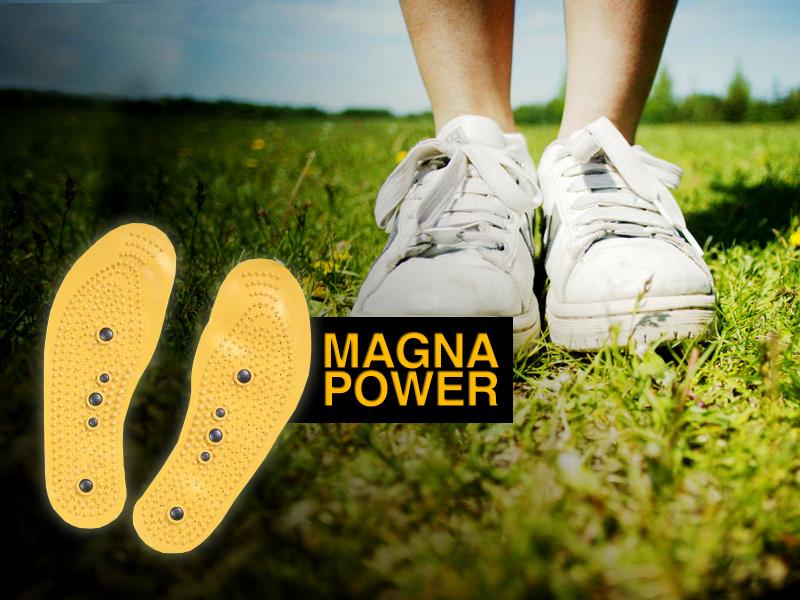 A mágneses talpbetétekkel egész napra feltöltődsz energiával.