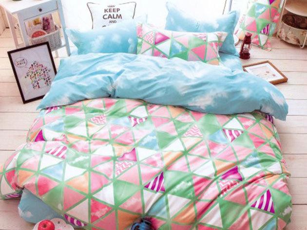 Felhők, színek harmóniában - 7 részes ágynemű garnitúra