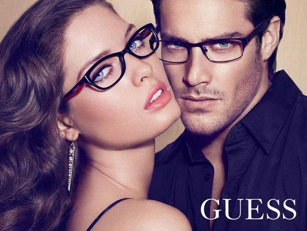 Komplett szemüveg keményített rétegű, 1,5-ös törésmutatójú lencsével, minőségi és divatos GUESS kerettel + látásvizsgálattal, a VIII. kerületi Totál Optikában