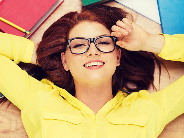 Komplett szemüveg keményített rétegű, 1,5-ös törésmutatójú lencsével, minőségi és divatos GUESS kerettel + látásvizsgálattal