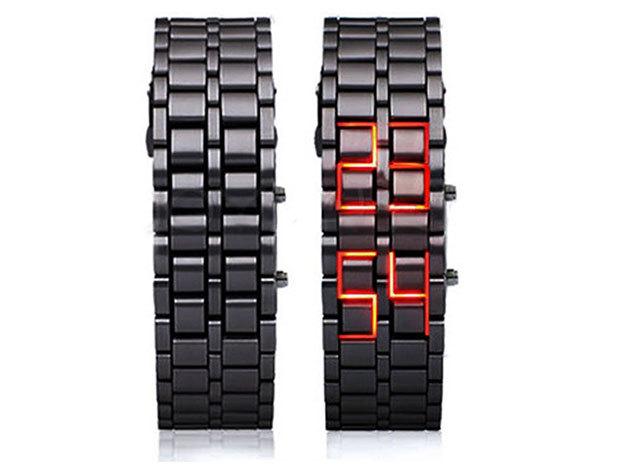 Samurai LED karóra - fekete színben