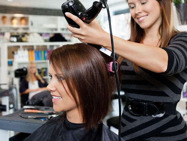 Női hajfestés VAGY melír + ajándék hajvágás + frissítő fejmasszázs + argánolajos hajpakolás / VI. kerület, Asklepios-Med Szalon