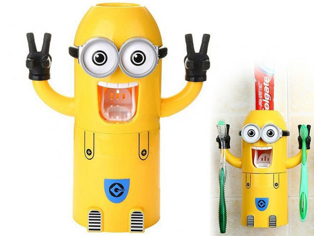 Minyonos automata fogkrémadagoló