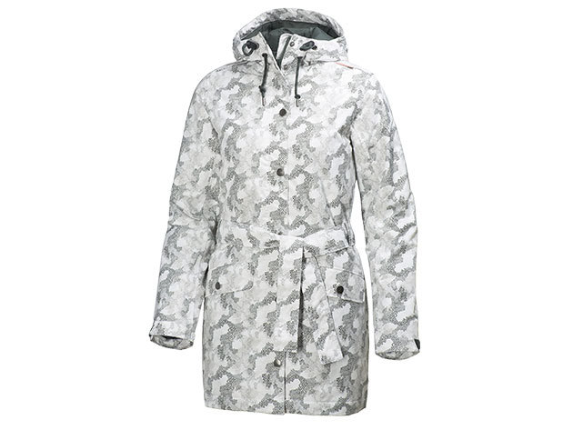 Helly Hansen W LYNESS INSULATED COAT OFF WHITE PRINT S (62462_011-S)