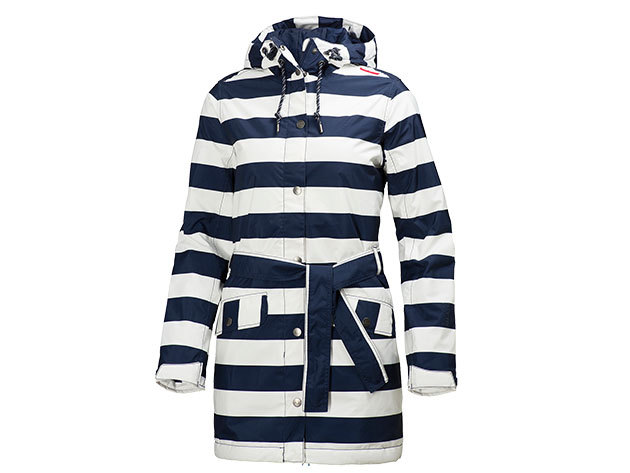 Helly Hansen W LYNESS INSULATED COAT EVENING BLUE STRIPE S (62462_689-S)