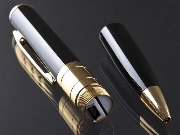 Kamerás toll USB csatlakozóval, beépített akksival - 50 perc folyamatos felvétel, feltűnés nélkül használható
