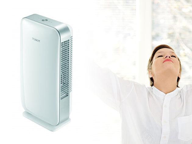 Légtisztító berendezés - Tosot TCS060DNSA - baktériumokat és az akár 2,5 mikron méretű részecskéket is kiszűri a levegőből, szűrőcserét nem igényel