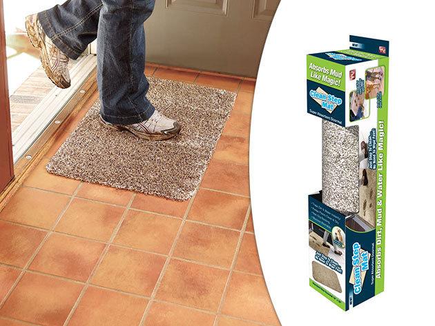 Clean Step Mat mikroszálas csodalábtörlő - 46×70 cm méret, extra nedvszívó képesség, csúszásmentes hátoldal