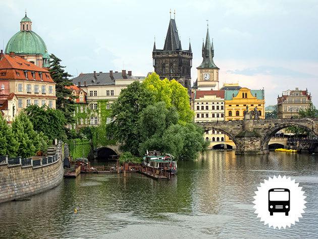 PRÁGA: non-stop autóbuszos utazás Csehország fővárosába, 1 napos városnézés / fő