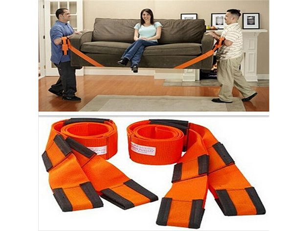 Költöztető pántok - 2 db extra erős pánt, mely nagy segítség lehet a nagyobb bútorok cipelésében