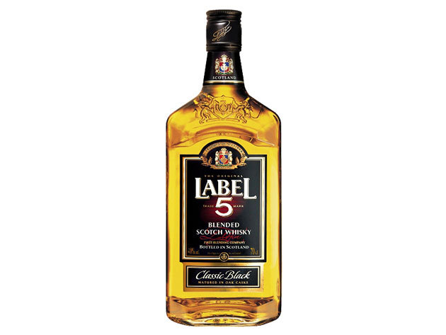 Label 5 scotch whisky 40 % 0,7 L