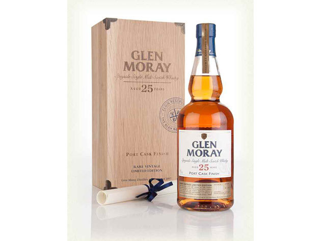 Glen Moray Single Malt Scotch Whisky 25 years-old 40% + Fadoboz 0,7L