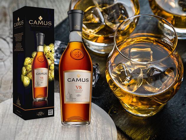 Camus VS Elegance Cognac ínyenceknek, egyenesen Franciaországból, 40 fokos prémium minőségű konyak<br> 0,7 literes üvegben