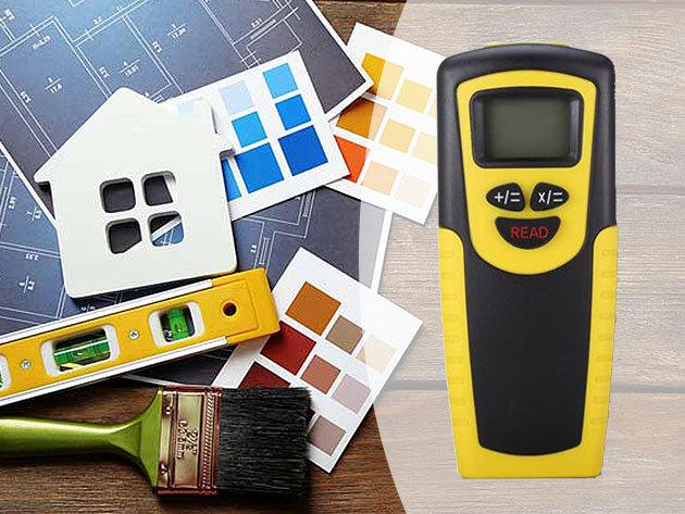 Lézeres távolságmérő - mikroprocesszor vezérelt, ultrahangos, egyszerűen és precízen mér, gombnyomásra összeadja az értékeket