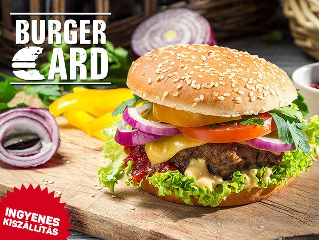 BurgerCard - élvezd a kedvezményeket a legjobb hamburgerezőkben (AttaBoy, Black Cab Burger, Kandalló, TGI Fridays ... stb.) és éttermekben (52 Bisztró, János étterem, Ízbisztró ... stb.) országszerte! 3 hónapra vagy 1 évre, 2 fő részére