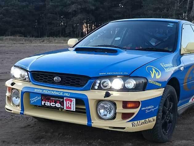 5 fajta Subaru Impreza STI, Mitsubishi Lancer EVO, Toyota Celica GT Four rally autókkal  12 kör élményvezetés