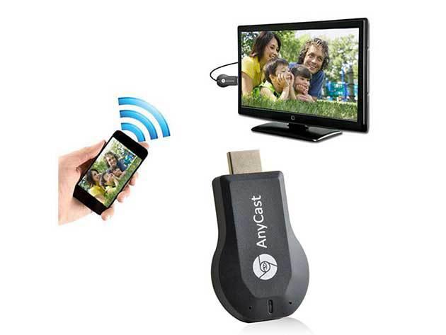 TV okosító anyCast Smart Tv Stick Miracast HDMI adapter - Nézz videót, képet, internetezz akár fullHD minőségbe a TV-n!