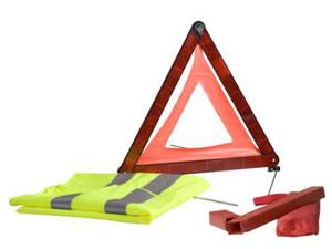 Safety Car szett (Elakadásjelző háromszög és láthatósági mellény)