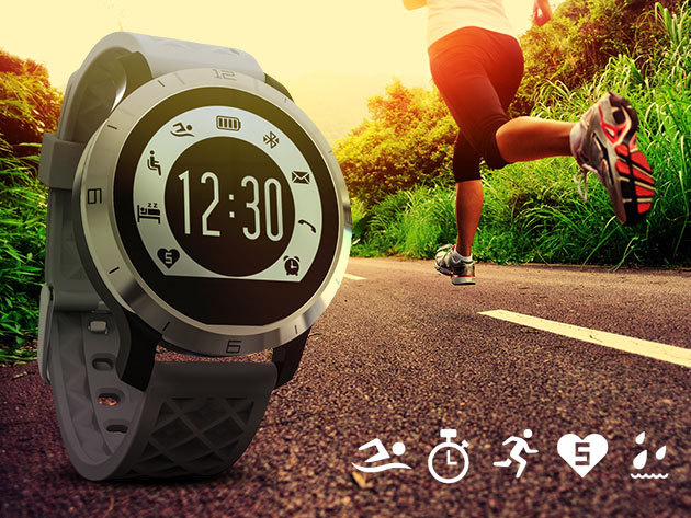 Sportóra pulzusmérővel - Bejövő hívás fogadása vagy elutasítása, SMS elolvasása, lépésszámláló, zenelejátszó + kamera irányítása és sok egyéb hasznos funkció