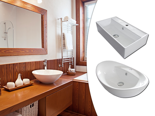 Porcelán mosdókagylók verhetetlen áron, fehér színben, elegáns modellek ovális vagy négyszögletes változatban
